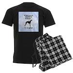 Whippets In Heaven Men's Dark Pajamas