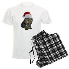 Santa Yorkie pajamas