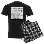 Move Over Little Dog Men's Dark Pajamas