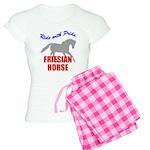 Ride With Pride Friesian Hors Women's Light Pajama