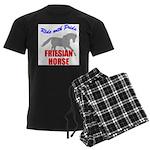 Ride With Pride Friesian Hors Men's Dark Pajamas