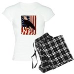 Bald Eagle and Flag Women's Light Pajamas