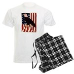 Bald Eagle and Flag Men's Light Pajamas