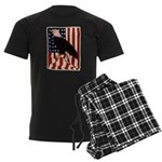 Bald Eagle and Flag Men's Dark Pajamas