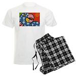 Tropical Parrot Men's Light Pajamas