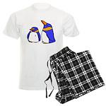 Cute Penguins Cartoon Men's Light Pajamas