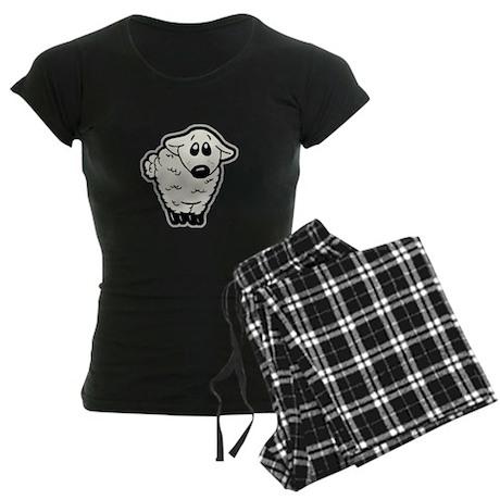 Cute Lamb Women's Dark Pajamas