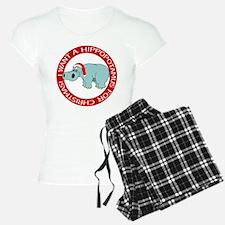 Christmas Hippo Pajamas