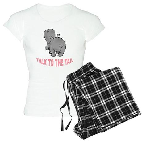 Hippo Talk To The Tail Women's Light Pajamas
