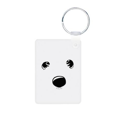 Westie Face Aluminum Photo Keychain