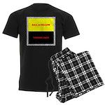 Coral Snake Poem Men's Dark Pajamas