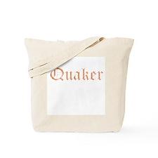 Quaker - distressed look lettering Tote Bag
