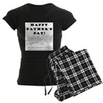 Humorous Father's Day Women's Dark Pajamas