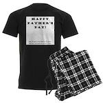 Humorous Father's Day Men's Dark Pajamas
