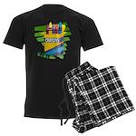 Crayons Men's Dark Pajamas