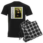 Mona Lisa Anagram Men's Dark Pajamas