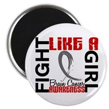 Licensed Fight Like a Girl 3.3 Brain Cancer Magnet