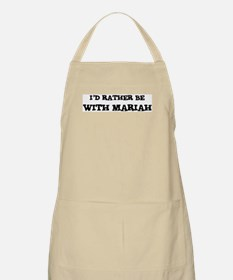 With Mariah BBQ Apron