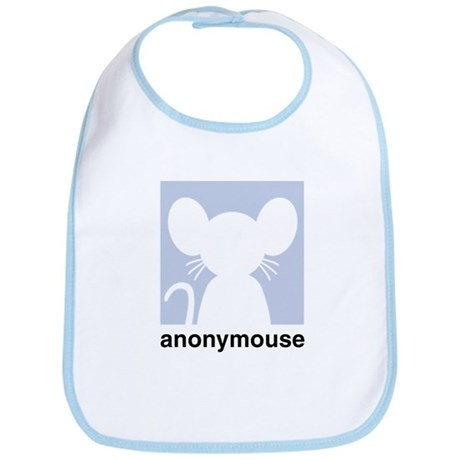 Cute anonymouse chat icon Bib
