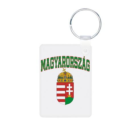 Hungary Aluminum Photo Keychain