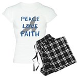 Peace Love Faith Women's Light Pajamas