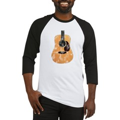 Acoustic Guitar (worn look) Baseball Jersey