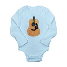 Acoustic Guitar (worn look) Long Sleeve Infant Bod