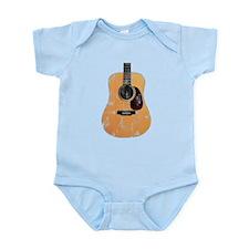 Acoustic Guitar (worn look) Infant Bodysuit