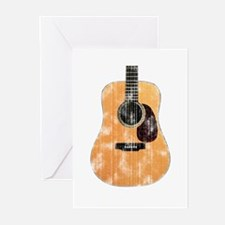 Acoustic Guitar (worn) Greeting Cards (Pk of 10)