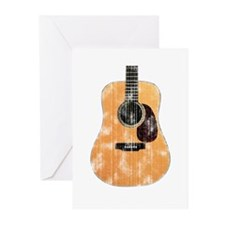 Acoustic Guitar (worn) Greeting Cards (Pk of 20)
