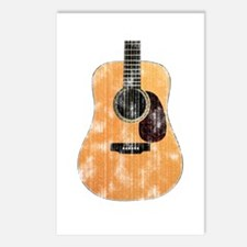 Acoustic Guitar (worn look) Postcards (Pack of 8)