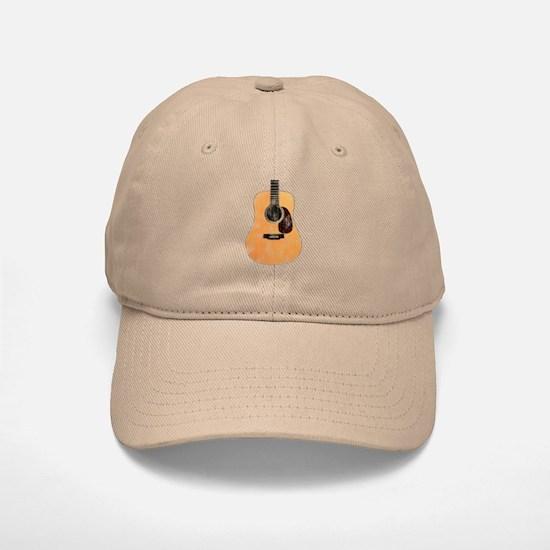 Acoustic Guitar (worn look) Baseball Baseball Cap