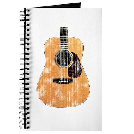 Acoustic Guitar (worn look) Journal