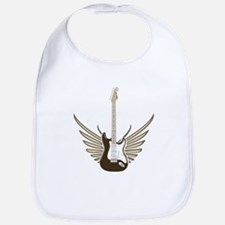 Winged Electric Guitar Bib