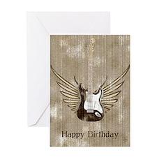 Wings Electric Guitar (worn) Birthday Card
