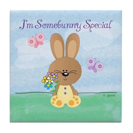 Special Easter Bunny Tile Coaster