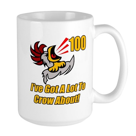 100th Birthday Large Mug