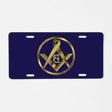 The Mason Circle Aluminum License Plate
