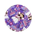"Cute Fairytale Princess 3.5"" Button (100 Pk)"