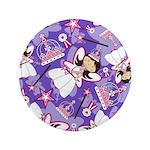 "Cute Fairytale Princess 3.5"" Button"