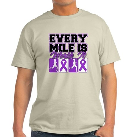 Pancreatic Cancer Every Mile Light T-Shirt