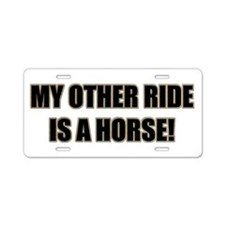 Horse Lover Aluminum License Plate