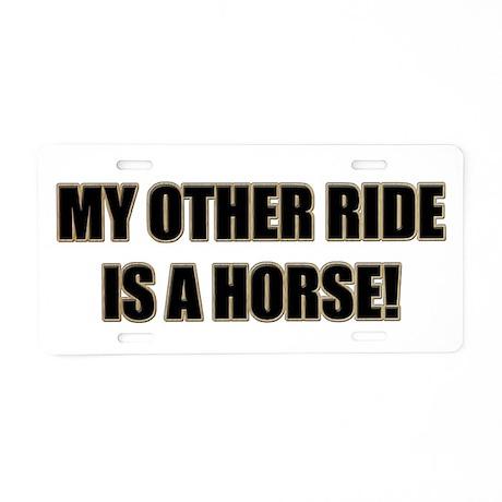 Horse Lover Aluminum License Plate