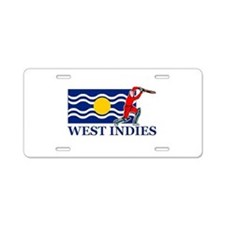 West Indies Cricket Player Aluminum License Plate