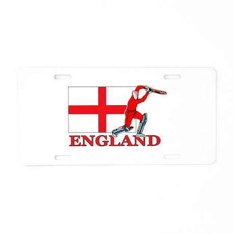 English Cricket Player Aluminum License Plate
