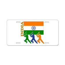 India Cricket Aluminum License Plate