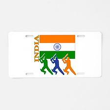 India Cricket Aluminum License Plate