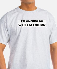 With Madisen Ash Grey T-Shirt