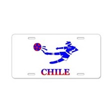 Chile Soccer Player Aluminum License Plate