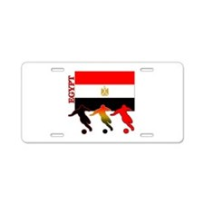 Egypt Soccer Aluminum License Plate